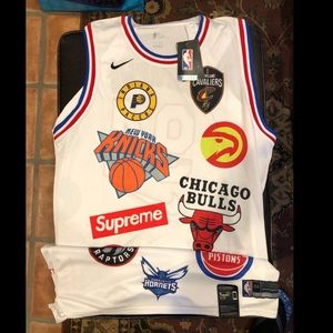 Supreme Nike/NBA Teams Jersey White